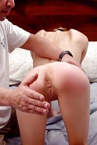Stacked Siren Gets Her Tight Keister And Clam Spanked