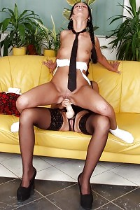 Filthy Oriental Mika Tan Deepthroats A Big African Hose And Rides It With Her Boobsy And Labia